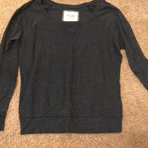Navy long sleeved Abercrombie and Fitch shirt